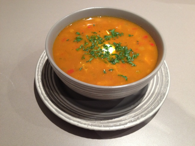 Lentil coconut soup